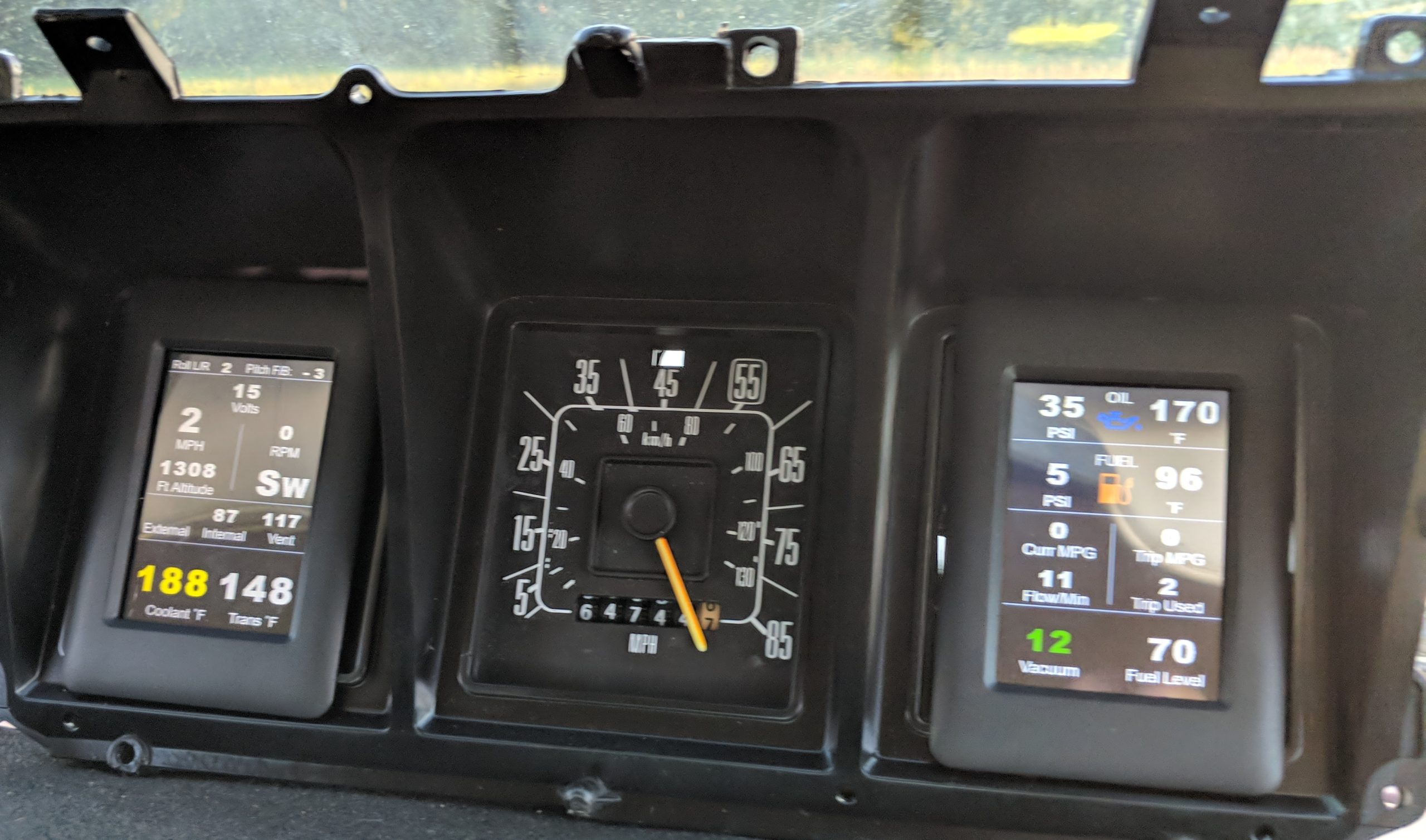 70's Ford Truck Instrument Cluster