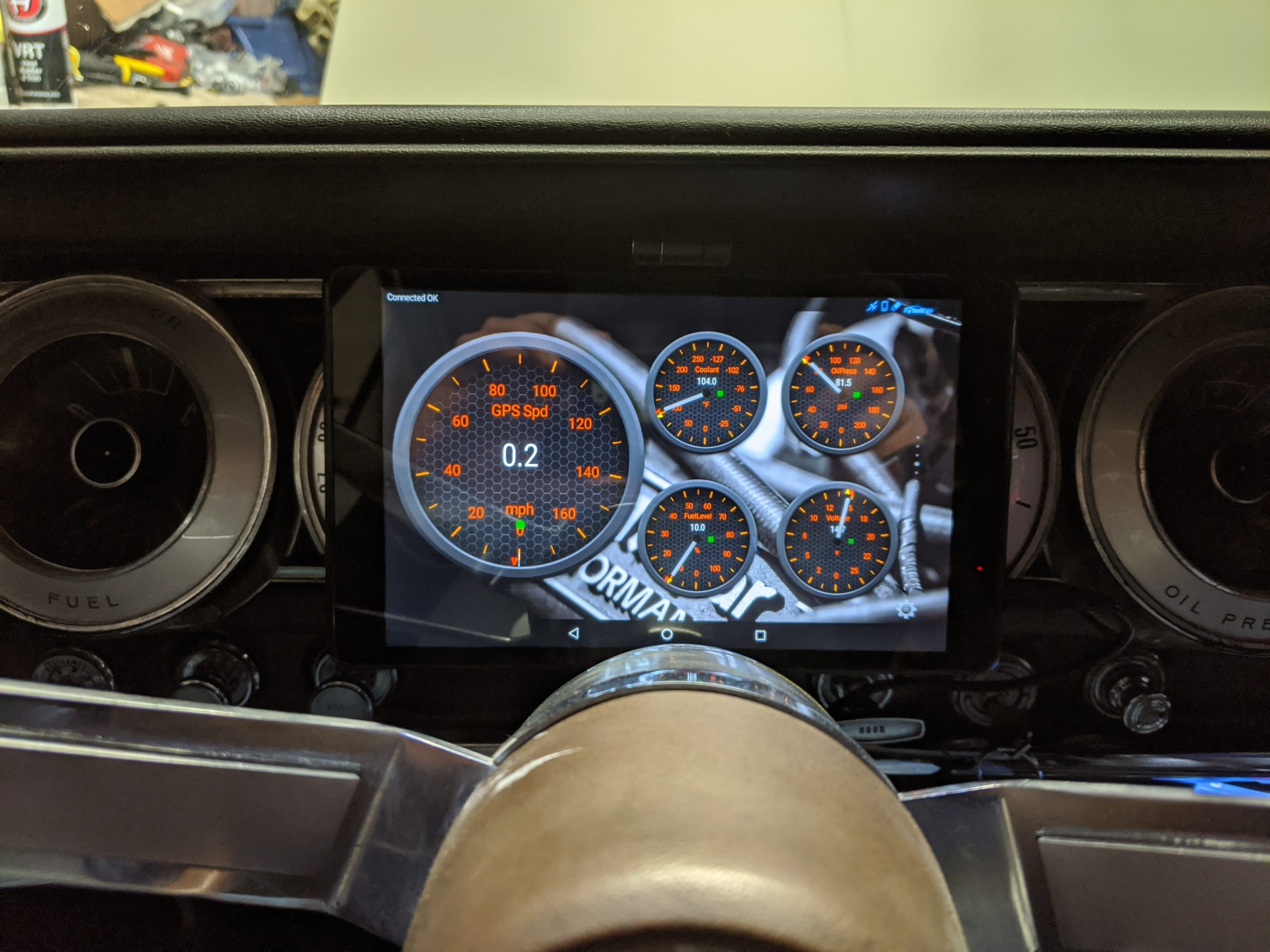 Torque app in a classic Dodge Charger